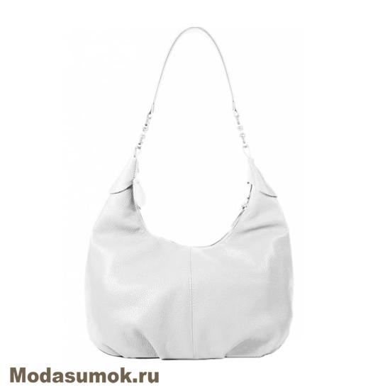 f470debbae45 Женская мягкая сумка из натуральной кожи L-Craft L 78 светло-серая ...