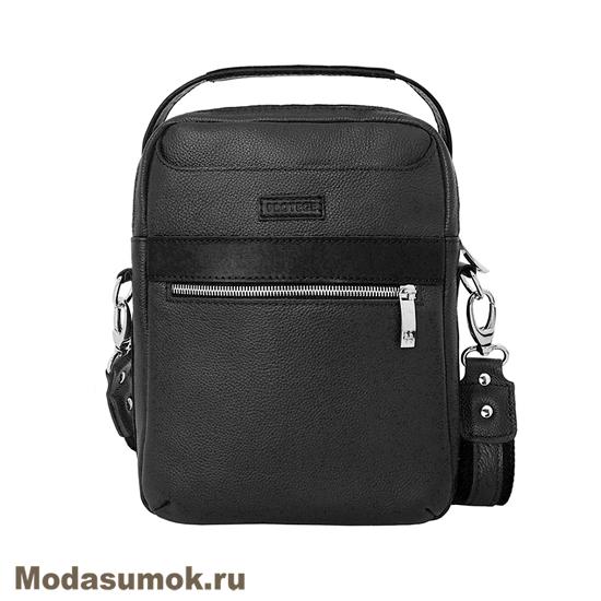 2dc337a35194 Сумка-планшет мужская из натуральной кожи Protege Ц-321 черная ...
