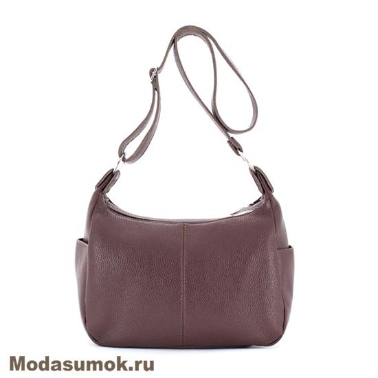 7135a30ce648 Женская сумка из натуральной кожи Protege Ц-266 тёмно-коричневая ...